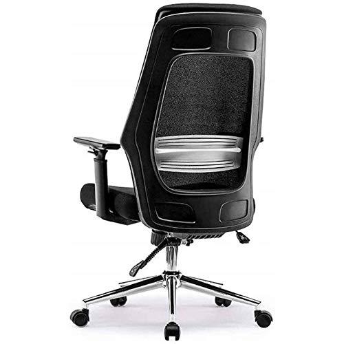 ZLQBHJ Sillas de escritorio de oficina, Silla ergonómica de videojuegos Sillas y taburetes, sillas de escritorio ejecutivo silla giratoria de 135 ° de inclinación con brazos de elevación Ajuste de sil