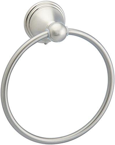 Amazon Basics AB-BR807-SN Modern Towel Ring, 6.3-inch Diameter, Satin Nickel