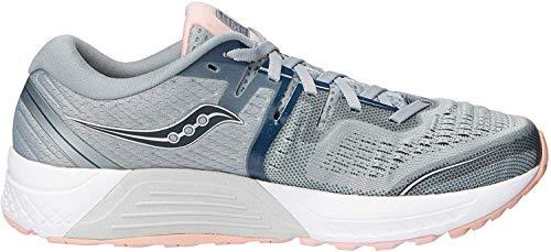 Saucony Women's S10464-2 Guide ISO 2 Running Shoe, Gray | Blush - 6 US