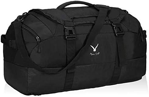 Hynes Eagle 65L Duffel Backpack Bag Gym Bag Travel Backpack Black product image