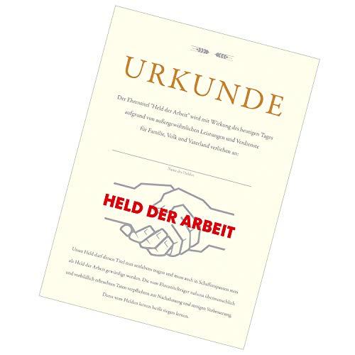 Held der Arbeit Urkunde - DDR Produkte - für Ostalgiker - Ossi Produkte