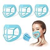 Máscara de soporte 3D para marco de soporte interior de protección de pintalabios para hombres y mujeres (lote de 4)