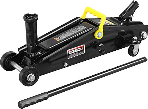 Torin AT83006B Hydraulic Trolley Service/Floor Jack with Extra Saddle (Fits: SUVs and Extended Height Trucks): 3 Ton (6,000 lb) Capacity, Black
