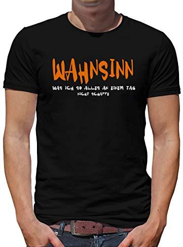 TShirt-People Wahnsinn, was ich so. T-Shirt Herren Sprüche Lustig XXXL Schwarz