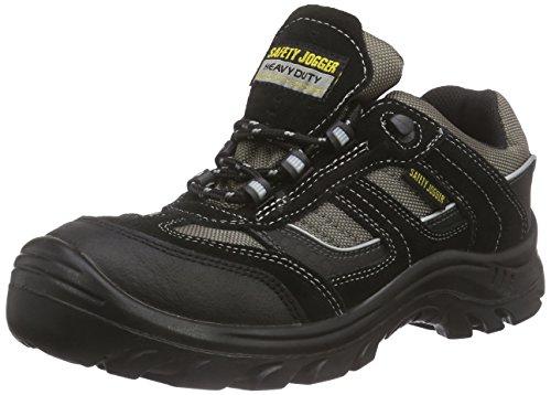 Safety Jogger JUMPER, Unisex - Erwachsene Arbeits & Sicherheitsschuhe S3, schwarz, (blk/blk/dgr 117), EU 37