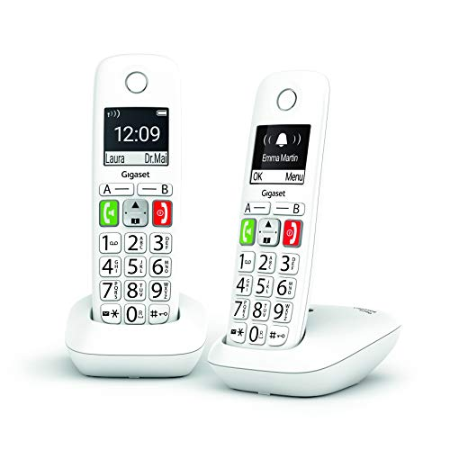 Gigaset E290 DUO - Teléfono para Mayores - Teclas Grandes - Gran Visibilidad - Pack de 2 Unidades