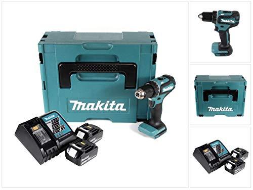 Makita DDF485RFJ Akku-Bohrschrauber mit 2X 3.0 Ah 18V