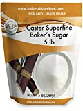 Judee's Superfine Caster Baker's Sugar (5 lbs) Non-GMO ~ Made in USA ~...