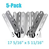 BBQration 5-Pack 17 5/16' x 5 11/16' Stainless Steel Heat Plate Replacement Grill Parts for Charmglow 720-0234, 720-0289, Kirkland 720-0025, Nexgrill 720-0234, 720-0289 and More