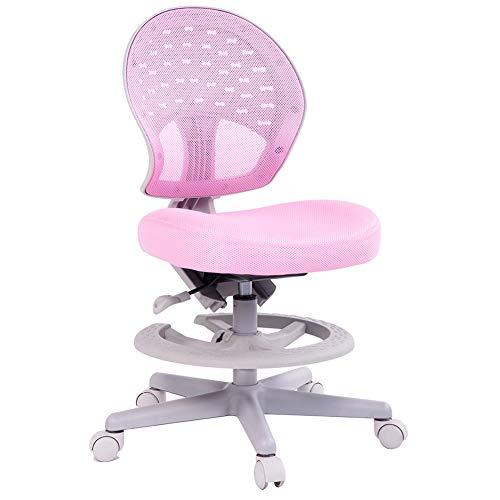 Geschikt voor kinderen roze 360 graden rotatie kan worden verhoogd en verlaagd kinderstoel/thuis kinderen leren draaibare stoel/comfortabele taille, beschermen de taille van kinderen