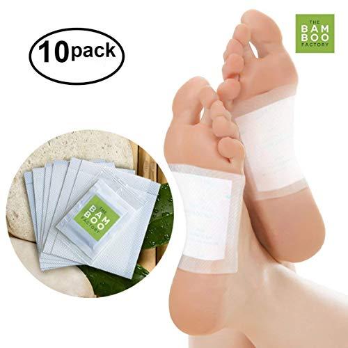Patches organiques de pied de Detox de bambou, coussins de bien-être de nettoyage de corps - paquet de 10