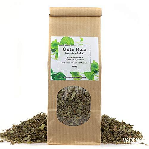 Valdemar Manufaktur Premium GOTU KOLA-Tee 100g (Tigergras, Indischer Wassernabel) - HANDVERPACKT In Deutschland