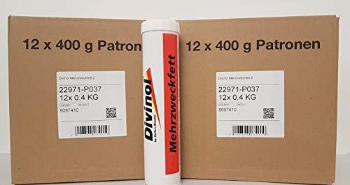 Divinol - Cartuchos de grasa (24 unidades, 400 g)