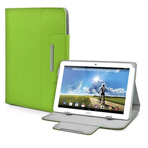 eFabrik Schutz Tasche für Acer Iconia Tab 10 A3-A20 10.1 Zoll Tablet-PC Schutztasche Zubehör Hülle mit Aufsteller in hochwertiger Leder-Optik grün
