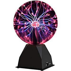 Katzco Plasma Ball - 7 Inch - Nebula, Thunder Lightning, Plug-in - for Parties, Decorations, Prop, Home by KCO Brands