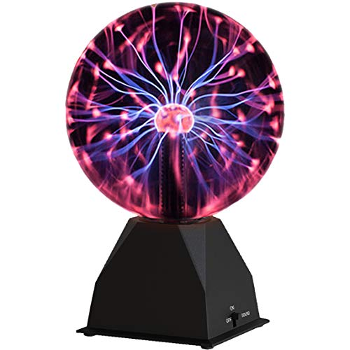 Katzco Plasma Ball -7.5 Inch - Nebula, Thunder Lightning, Plug-In - For Parties, Decorations, Prop, Kids, Bedroom, Home, And Gifts