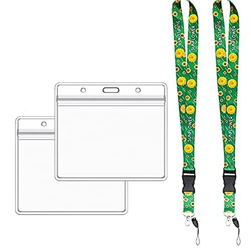 M-Ask Tarjeta de exención y cordón, 2 tarjetas de exención de viaje, tarjeta de exención F-Ace M-Ask Exention Card Plus 2 Sunflower Exemption Lanyard Holder para viajes y compras
