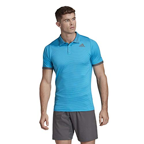 adidas Freelift Polo Primeblue Herren, Herren, kurzärmelig, Freelift Polo Primeblue, Scharfes Blau/Grau, Small