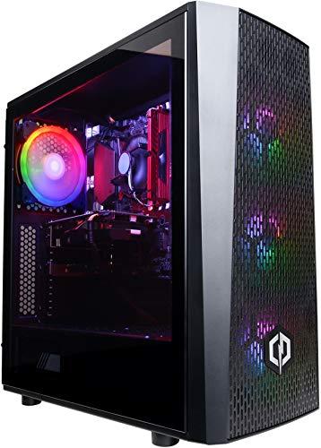 CyberpowerPC Wyvern Gaming PC - Intel Core i5-9400F, Nvidia GTX 1660 Super 6GB, 8GB RAM, 1TB HDD, 400W 80+ PSU, Wi-Fi, Windows 10, J24 RGB