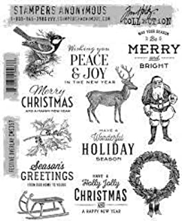 Tim Holtz Stamper's Anonymous Cling Stamps, Festive Overlay