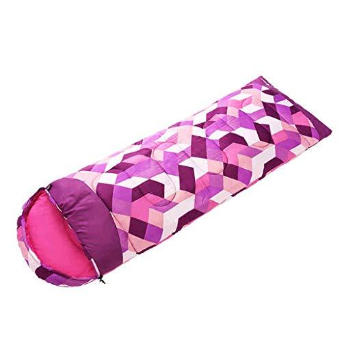 Wusfeng Couleur Lavande Treillis Sac de Couchage Léger et Confortable Tissu Etanche Sac de Couchage en Duvet Chaud et étanche Idéal pour Le Camping Randonnée Rose (Color : Pink, Size : 1.6kg)