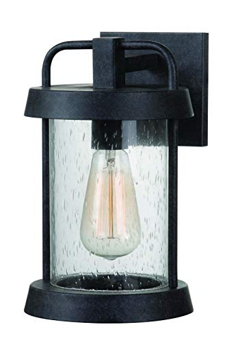 Kenroy Home 93400FGRPH Outdoor Lantern, Forged Graphite Finish