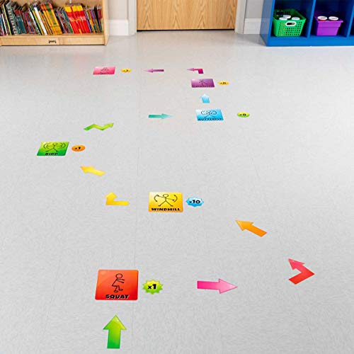 EZ Stick Sensory Path for Hallways – 98 Decals for Floors, Get Moving Photo #2