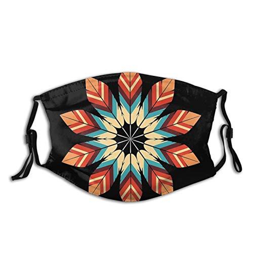 The Eagle Flies High Native American Print Face Mask-Adjustable Ear Loops|Reusable-With Filter Pocket-Unisex Balaclava Bandana Cloth