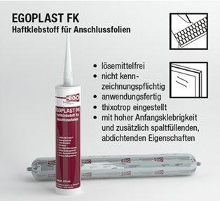 EGOPLAST FK lijm en afdichtstof, 310 ml geel