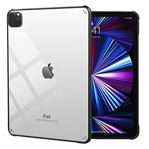 iPad Pro 11 ケース 2021 保護カバー Dadanism iPad Pro 11 第3世代 カバー 新型 TPU縁 背面PCハードケース 透明背面カバー アイパッドプロー 11 2020 タブレットケース 保護カバー 四角加固 擦り傷防止 ビジネスケース 薄型 衝撃吸収 父の日 ブラック