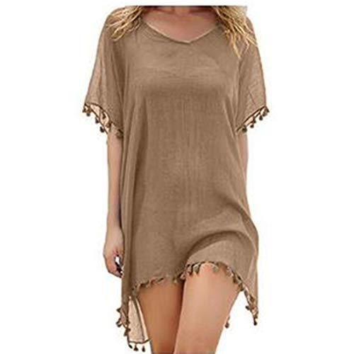 JMITHA strój kąpielowy pokrowiec dla kobiet szyfon frędzle stroje plażowe stroje kąpielowe plaża sukienka strój kąpielowy zakrycie lato