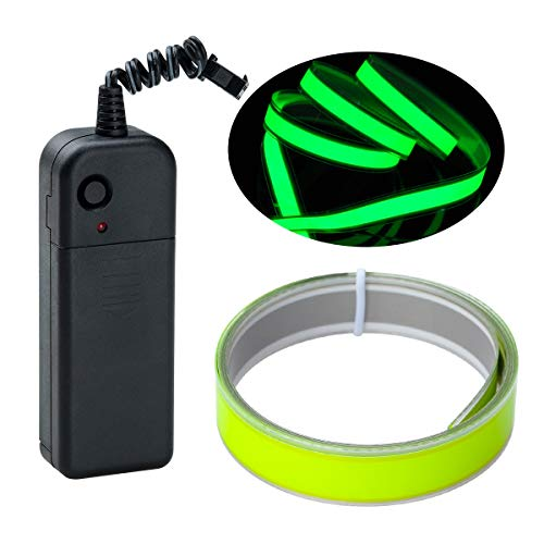 Lychee 1M 3ft Green Neon Glowing Strobing Electroluminiscente Robbin El Tape cinturón (Verde limón)