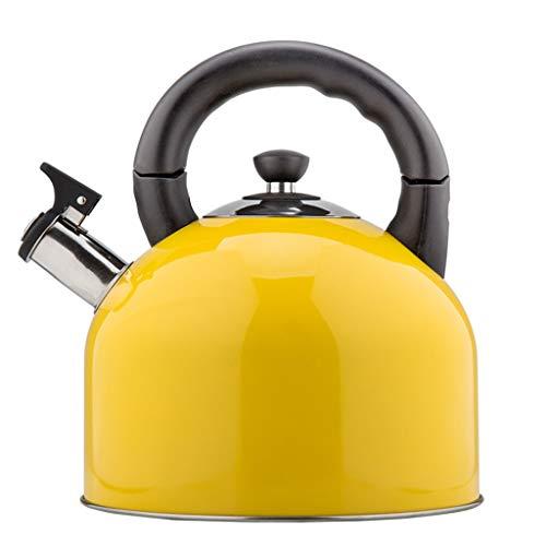 Wddwarmhome Acier inoxydable 304 4.4L bouilloire à gaz sifflement des ménages épaissir haute capacité cuisinière à induction de gaz cuisinière Restaurant Bouilloire (Color : Yellow)