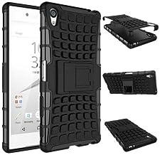 جراب Calans Sony Xperia Z5 Premium Z5 Plus HD Series مقاوم للصدمات مع واقي شاشة - أسود