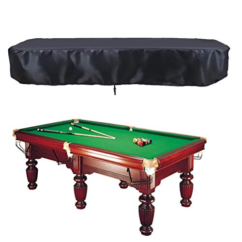 Oslimea 7 8 9ft Billiard Pool Table Covers with Drawstring Pool Table Billiard Waterproof Table Cover for Billiard Table Rectangle Table (Short: 7ft--90x52x7.8 in)