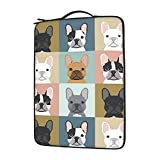 Laptop Sleeve Bag Cute French Bulldog Business Notebook Protective Bag Tablet Carrying Case 13 Inch
