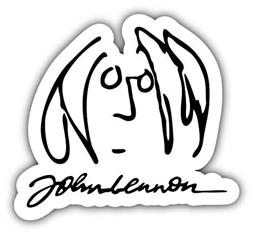 The Beatles John Lennon Face Sticker Decal - Peel and Stick On