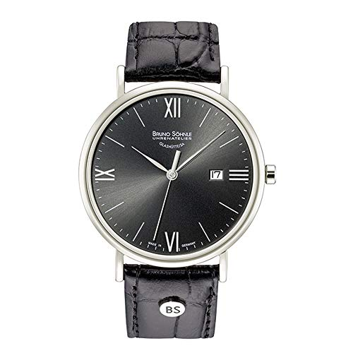 Bruno Söhnle Herren Analog Quarz Uhr mit Leder Armband 17-13085-871