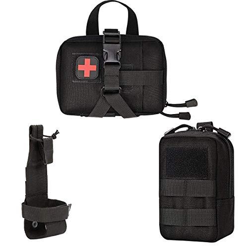 Xidan Taktische Molle Beutel Multi-Zweck-EDC Militär Nylon Hüfttasche Utility Tasche Abnehmbare Patches Beutel für Hund Weste Harness