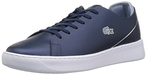 Lacoste - Zapatillas para Mujer, Nvy/Light Blue Leather, 7 M US