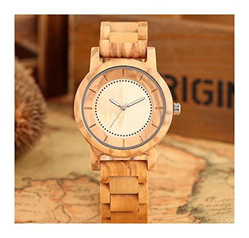 yuyan Reloj de Madera de Arce, Hombres y Mujeres Simples de Cuarzo, dial de Puntero Luminoso Creativo, Duradero, Respetuoso con el Medio Ambiente, Saludable y cómodo