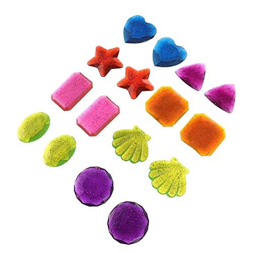 PRETYZOOM 16 Piezas de Piscina de Gemas de Buceo Juguetes de Plástico Cofre del Tesoro Juguete de Natación para Niños- Juego de Juguetes de Piscina de Diversión Subacuática de