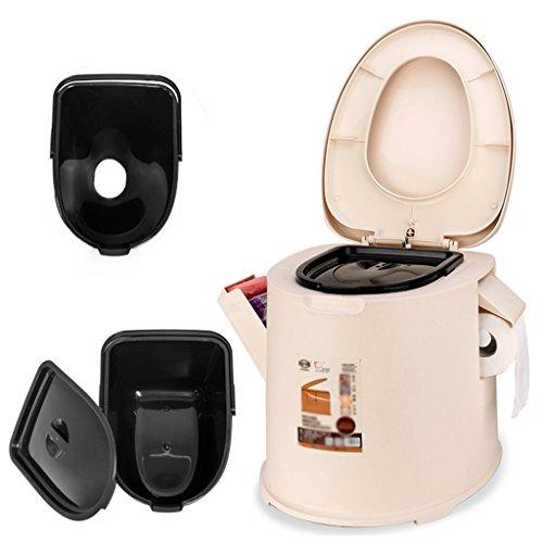 MyAou-commode Toilette de Camping léger et portatif adapté pour l'utilisation intérieure et extérieure Loo Camping Caravane Pique-Nique pêche et Festivals (Couleur : Beige)