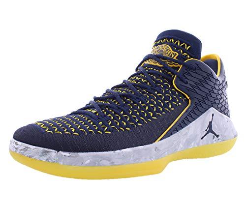 Air Jordan XXXII 32 Low Michigan Wolverines Basketball Shoes AA156-405 (11.5)