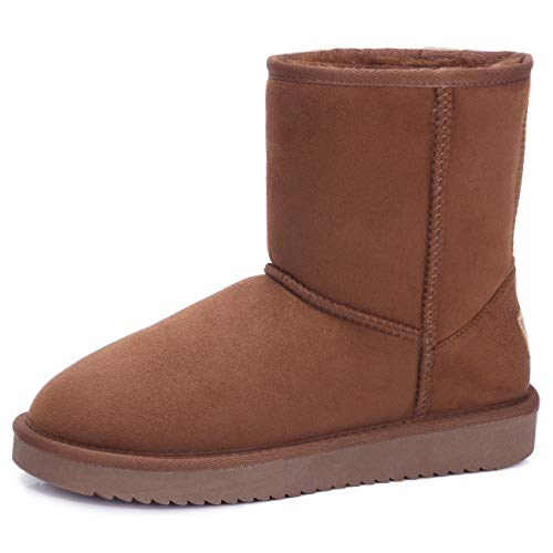 Women's Warm Winter Shearling Snow Boots