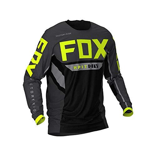Yutich Herren Downhill Trikots Hpit Fox Mountainbike MTB Shirts Offroad DH Motorrad Trikot Motocross Sportwear Kleidung-L