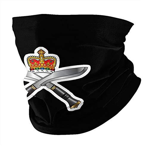 Máscara facial Royal Gurkha Rifles – Prevenção de poeira esportiva multiuso – Máscara facial balaclava preta