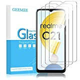 GEEMEE Protector de Pantalla para Realme C21/Realme C21Y/realme Narzo 30A, Cristal Templado Película Vidrio Templado 9H Alta Definicion Glass Screen Protector Film (Transparente)-3 Pack