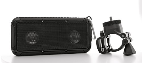 Portable Bike Speaker - Outdoor Bluetooth Wireless Lighted Bicycle Speaker - Hiking, Camping - IP67 Water Proof, Shock Proof, Dust Proof with Light/Strobe and Mount