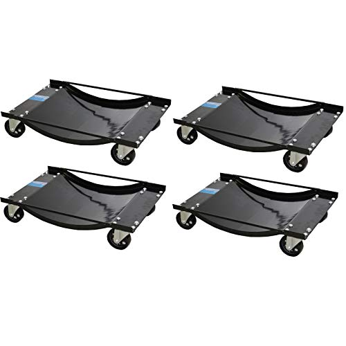 TRUTZHOLM 4X Auto Rangierhilfe für PKW 1800 kg mit Stahlrollen | Rangierwagenheber Rangierroller Wagenheber